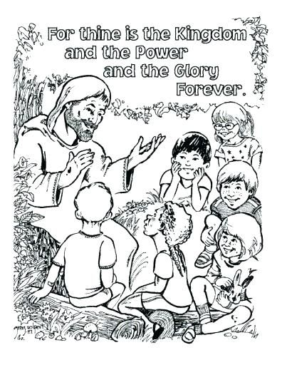 The Lords Prayer Coloring Pages Prayer Coloring Pages To Print The