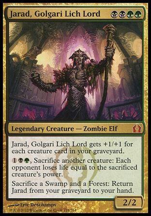 Jarad Golgari Lich Lord Magic The Gathering The Gathering Magic The Gathering Cards