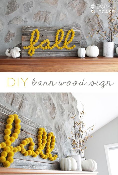 Fall Barn Wood Sign with supplies from Hobby Lobby! Fall Barn Wood Sign with supplies from Hobby Lobby! Rustic Fall Decor, Fall Home Decor, Autumn Home, Diy Home Decor On A Budget, Diy Home Decor Bedroom, Dyi Fall Decor, Seasonal Decor, Barn Wood Signs, Wooden Signs