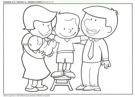 Desenhos Para Colorir Familia Para Colorir Imagens Para