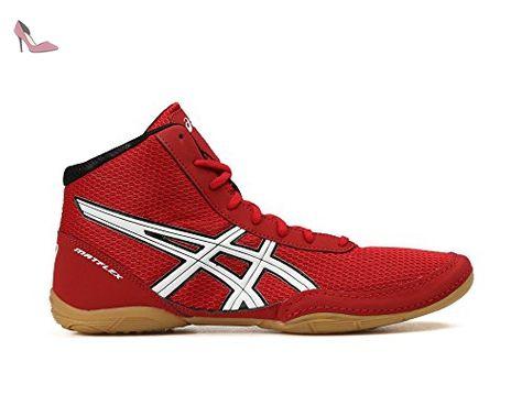 chaussures asics rouge et noir