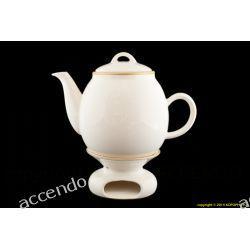 Dzbanek Z Podgrzewaczem 2 Litry Kremowy Mieroszow Tea Pots Tea Tableware