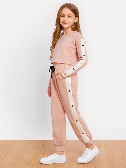 Conjunto De Sudadera Y Pantalones Cortos Para Ninas Ropa Deportiva Ninas Ropa Para Ninas Fashion Ropa Linda Para Ninas