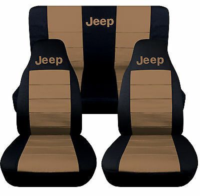 Details About 1976 2018 Jeep Wrangler Two Tone Seat Covers Canvas Front Rear Choose Color In 2020 Jeep Wrangler Tj Jeep Wrangler Jeep Wrangler Accessories