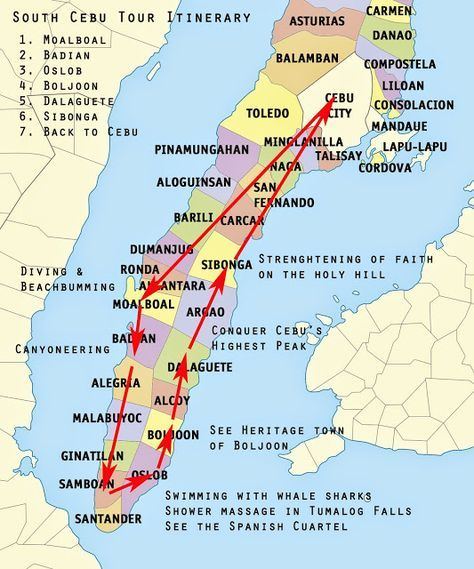 3 Day Backpacking Souh Cebu Itinerary Archie Off Duty Cebu Philippines Travel Phillipines Travel