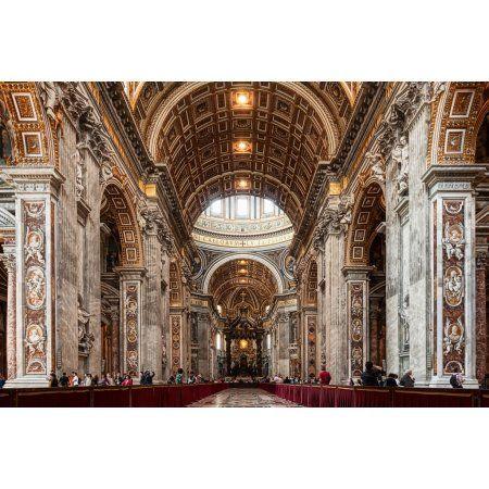 Saint Peter Basilica Rome Italy poster
