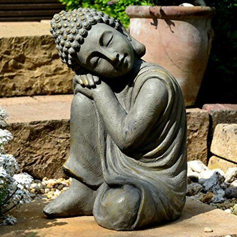 Bouddha Statuette Chinois 43 Cm Decoration Zen Pour Interieur