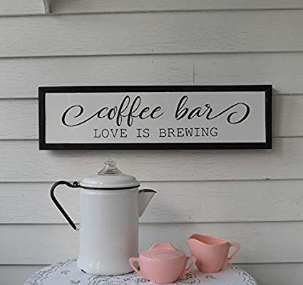 Zora Camp Coffee Bar Love Is Brewing Framed Printed Wood Sign Farmhouse Fixerupper Kitchen Housewarming Birthday Wedding D In 2020 Camping Coffee Coffee Bar Wood Print