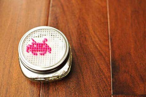 Plastic Canvas Challenge: Homemade Air Freshener Mason Jar