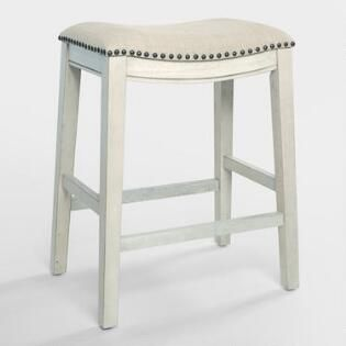Excellent Antique White Jayceson Upholstered Counter Stools Set Of 2 Cjindustries Chair Design For Home Cjindustriesco