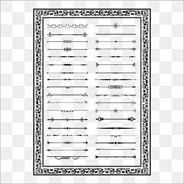 عناصر خطوط زخرفية لتصميم مقسمات خطوط ديكور ناقلات لون أسود الزينة كلاسيكي مسطرة Png والمتجهات للتحميل مجانا Decorative Lines Geometric Lines Free Vector Graphics