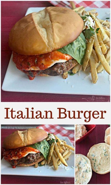 Italian Burger Recipe Italian Burger Sausage Burgers Beef Recipes