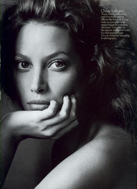 Christy Turlington photographed by Irving Penn for US Vogue, September 1994