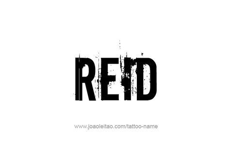 reid name. reid name d