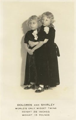 Dolores & Shirley.                                      Little people twins