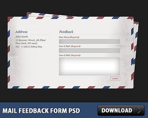 Download Mail Feedback Form PSD Web Site Pinterest Graphics - free feedback form