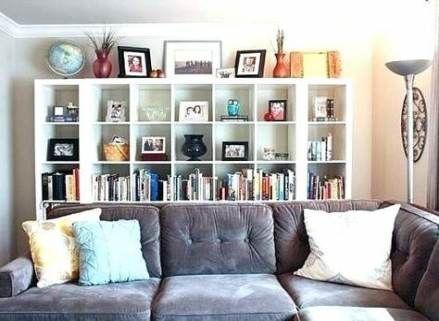Wall Shelf Behind Couch Basements 33 Ideas Wall With Images Bookcase Behind Sofa Shelf Behind Couch Basement Living Rooms