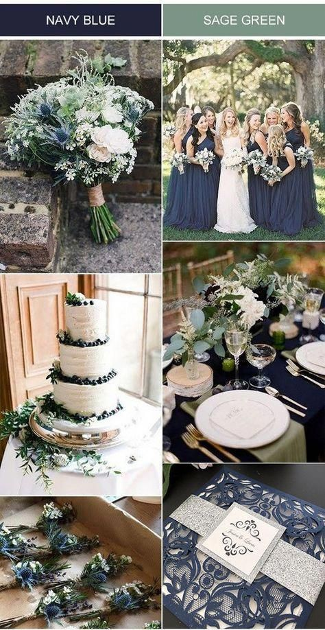 navy blue and sage green wedding color ideas with matched laser cut wedding invi. - - navy blue and sage green wedding color ideas with matched laser cut wedding invitations Bun Hairstyles Ideas for You 2019 2019 Bun Hairstyles ideas Wo.