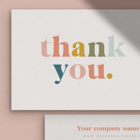 Thank you for your order cards Business Stationery Business Stationery Business, Business Branding, Business Design, Etsy Business, Corporate Business, Creative Business, Business Thank You Cards, Business Names, Best Business Cards