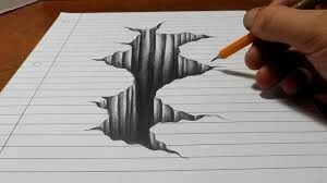 A Writer Is A Magician Who Can Create A Masterpiece With A Wave Of A Pencil Carol Archer Drawings On Lined Paper Paper Drawing Illusion Drawings