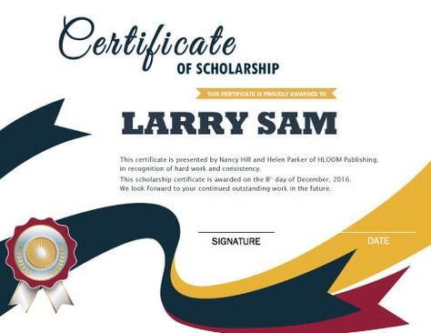 Image result for scholarship certificate award certificate - free award certificate templates word