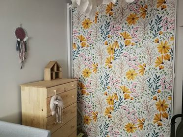Sunny Wardrobe Why Not Just Try Peel Stick Decals This Sunny Clearing Design Suits The Room Very Well Wardrobe D Ikea Decor Ikea Interior Furniture Hacks