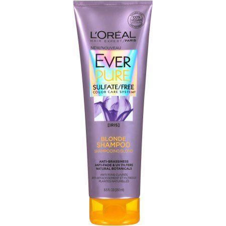 L Oreal Paris Everpure Blonde Shampoo Sulfate Free 8 5 Fl Oz Walmart Com Purpleshampoo L Oreal Paris Ever Best Purple Shampoo Shampoo Free Purple Shampoo