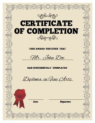 5 in 1 Sports Award Certificate Achievement by Sharkbyte2k on Etsy - certificate of completion template word
