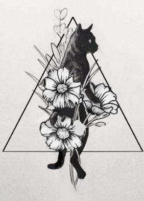 Tattoo Ideas Leg Female 63 Ideas Cat Tattoo Cat Flowers Black Tattoos