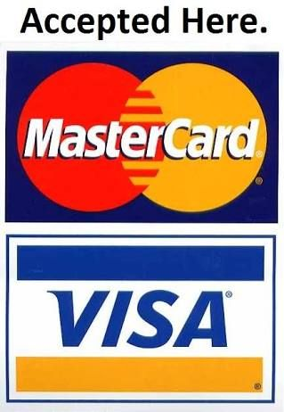 Image result for credit card accepted here  Visa card, Mastercard