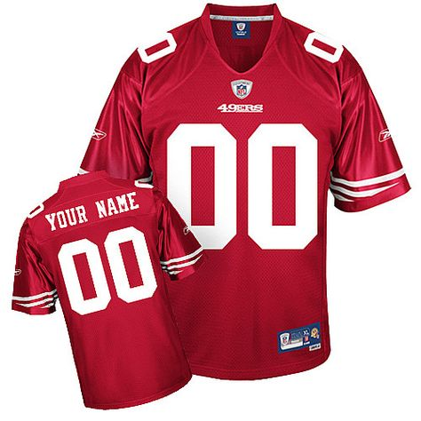 1f396b007 San Francisco 49ers 00 Customized Eqt Red Team Color Jersey