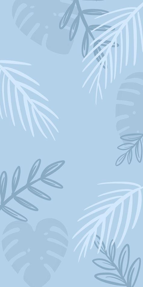 aesthetic lockscreen blue pastel #palm #tropical