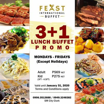 Feast International Buffet 31 Weekday Promo Jan 2020 In 2020 Lunch Buffet Lunch Feast