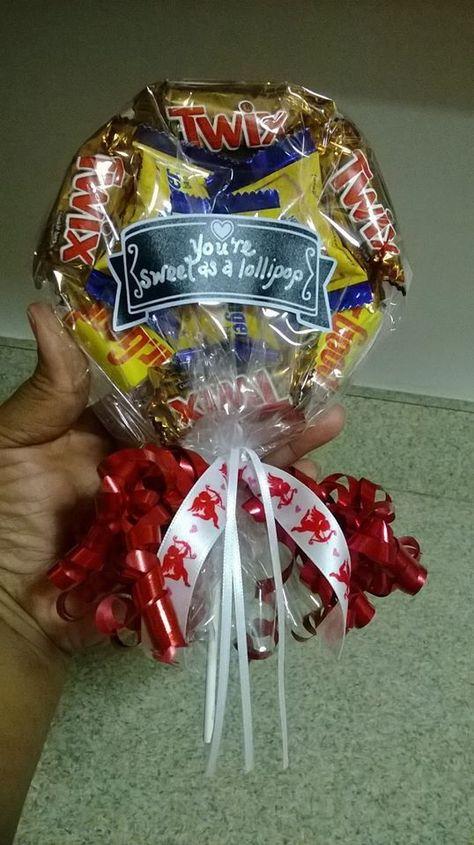 Candy pieces lollipop