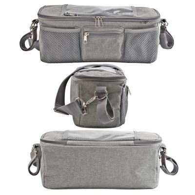 BTR Buggy Organiser Pushchair Pram Bag with 2 x Pram Clips /& Mobile Phone Pocket