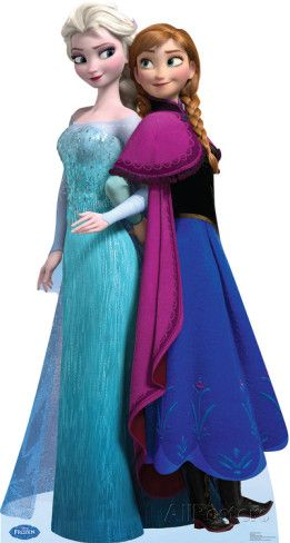 Elsa and Anna - Disney's Frozen Lifesize Standup Poster Lifesize Standup Poster Stand Up at AllPosters.com
