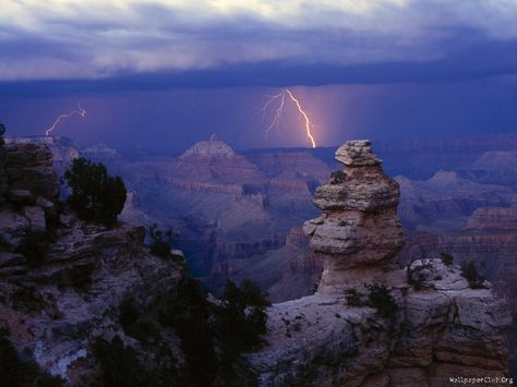 Lightning Storm Over, Grand Canyon National Park, Arizona