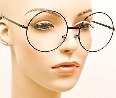 Frauen Männer Große Übergroße Metallrahmen Klare Linse Runde Kreis Brillen