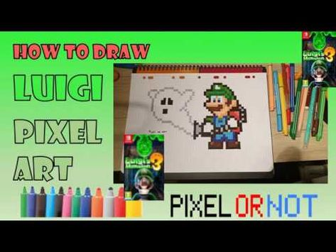 Tuto Dessin Pixel Art Comment Dessiner Luigis Mansion 3