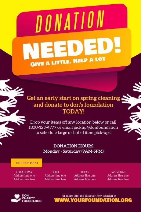 Donation Needed Charity Fundraiser In 2021 Fundraising Poster Charity Fundraising Party Poster