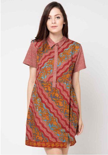 35 Model Dress Batik Modern Masa Kini 2018 Terbaru 1000 Model