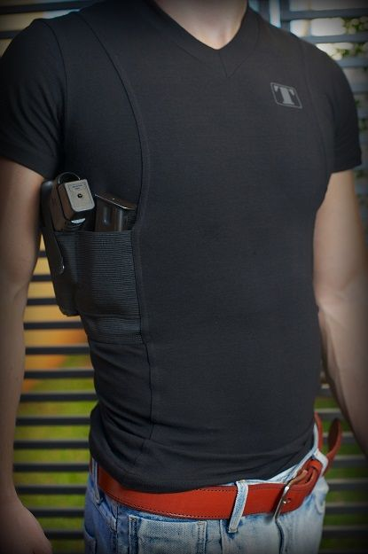 Tagua Spandex Holster Shirt - Black - XL | www ShesAPistol