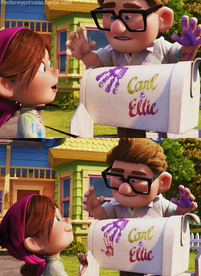 Carl and Ellie in the movie Up :) I cry my eyes out at the beginning EVERY time.