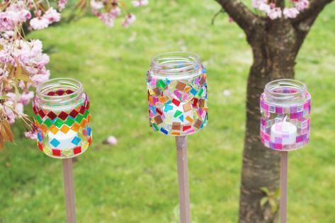 Gartendeko Gartendekoration Einfach Selber Machen Vbs Hobby Kinder Basteln Garten Windlichter Basteln Mit Kindern Windlichter Basteln