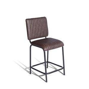 Sensational Breakfast Bar Stool In Dark Brown Leather Eporta All Cjindustries Chair Design For Home Cjindustriesco