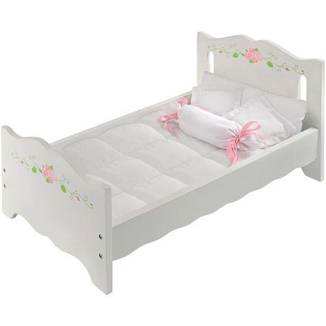 Badger Basket White Rose Doll Bed (fits American Girl Dolls) $22.99 ...