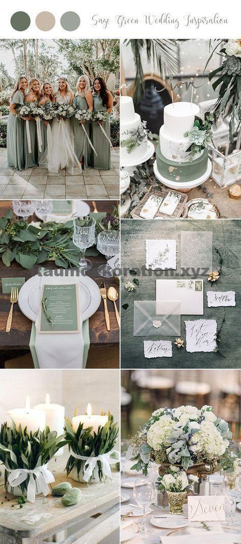Tischdeko Hochzeit 30 Sage Green Hochzeitsideen Fur 2019