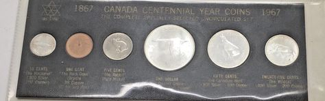Canada Silver Set 1967 Centennial Year Coins Uncirculated Birthday Anniversary
