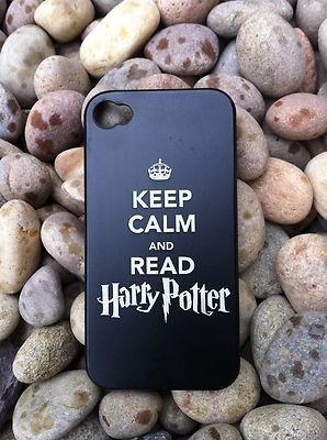 KEEP CALM AND READ HARRY POTTER... I wish this were a poster rather than a phone case but you get the idea :)