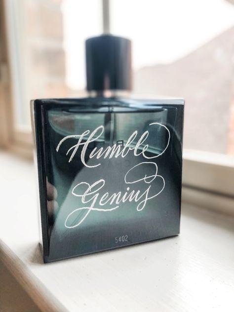 Calligraphy Engraved Bleu De Chanel #calligraphyengraving #bleudechanel #cologneengraving #valentinesdaygift #anniversarygift #weddingpartygifts #personalizedgifts #corporategifts #glassengraving